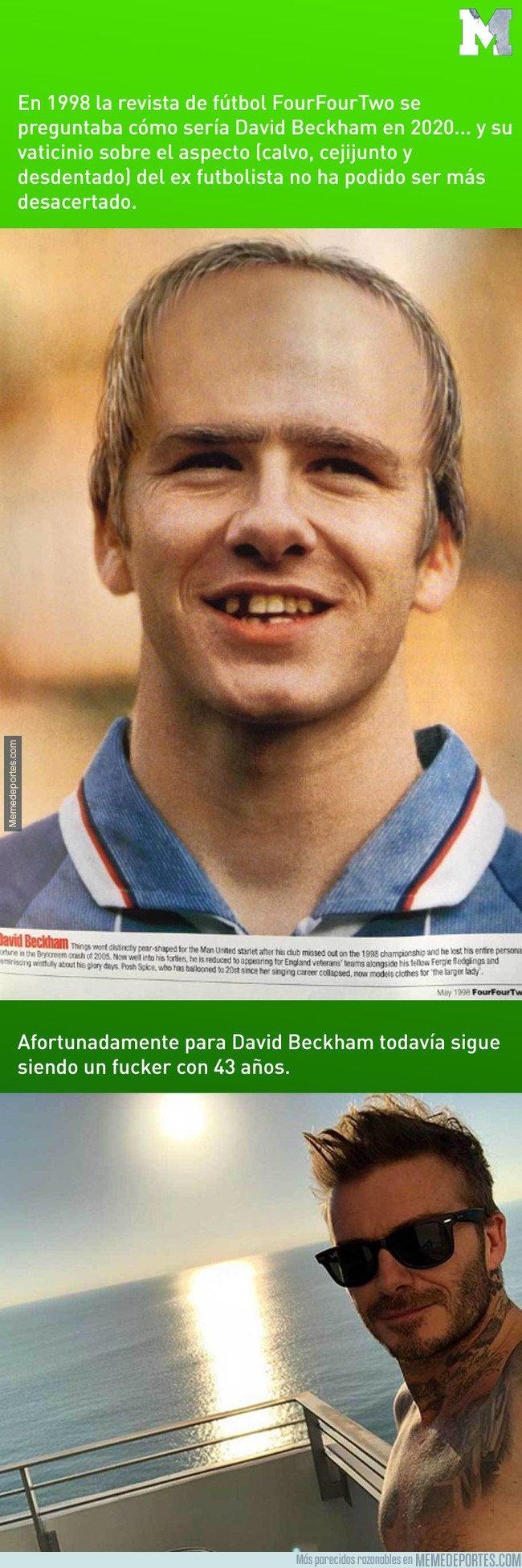 1072271 - En 1998 la revista Four Four Two predijo que Beckham luciría así en 2020. Y la realidad...