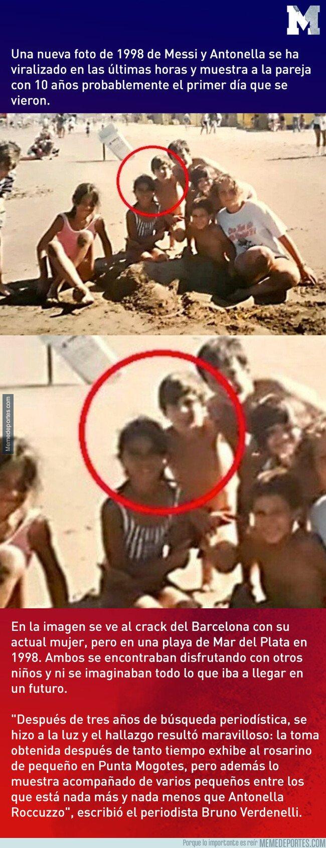 1072374 - La foto inédita de Lionel Messi y su mujer Antonela Roccuzzo cuando tenían 10 años