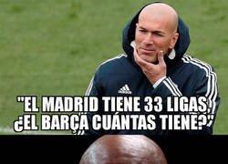 Enlace a Zidane lanza un dardo dirección Barcelona