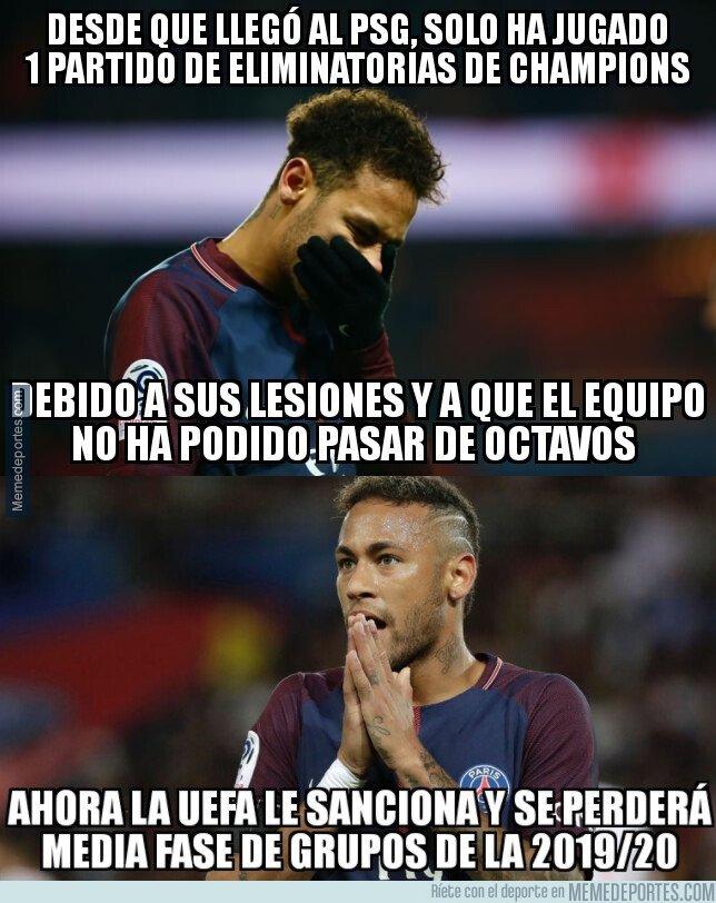 1072676 - Criticar a los árbitros por redes sociales le ha salido caro a Neymar