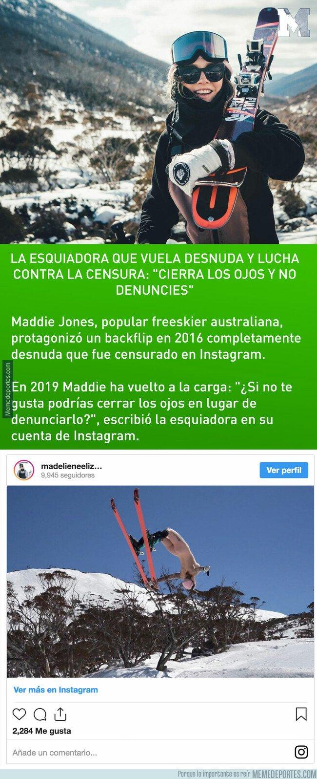 1072944 - La esquiadora que vuela desnuda y lucha contra la censura:
