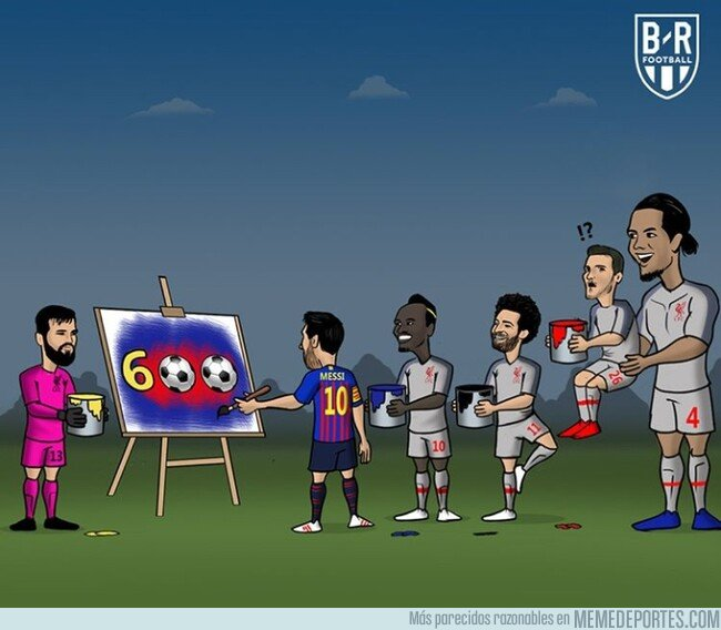 1073396 - Messi 'dibujó' su gol 600 ante el Liverpool, por @brfootball
