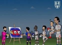 Enlace a Messi 'dibujó' su gol 600 ante el Liverpool, por @brfootball