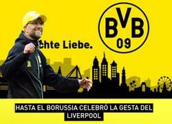 Enlace a Hasta el Borussia celebró la gesta del Liverpool