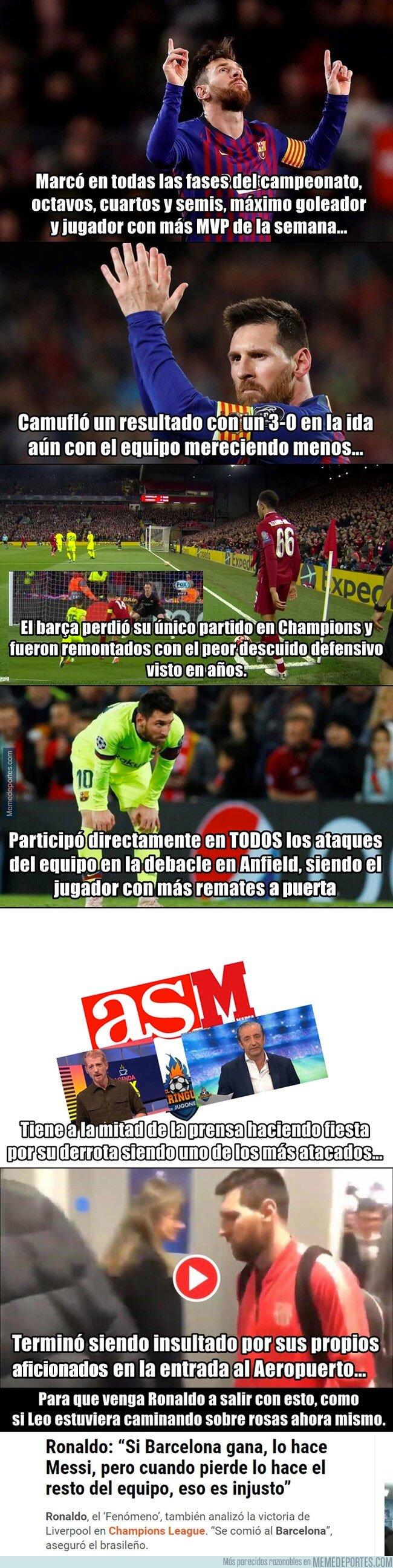1074438 - Muy mal por Messi de no ir a cabecear sus propios centros...