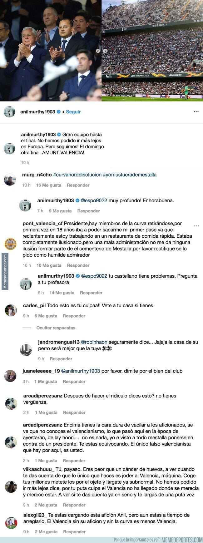 1074579 - El presidente del Valencia se pone a vacilar a los aficionados en instagram
