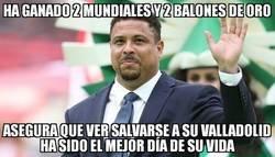 Enlace a Ronaldo le ha cogido mucho cariño al Pucela