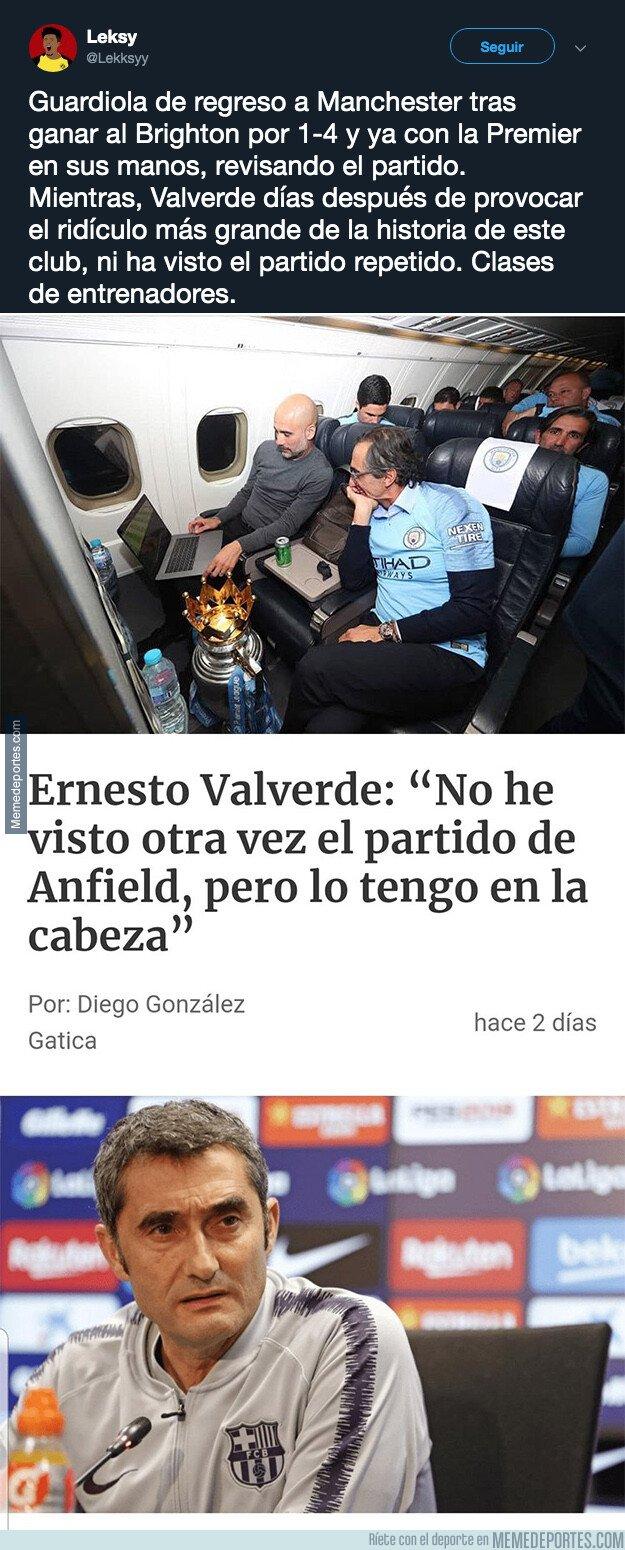 1075084 - La diferencia más clara entre Valverde y Guardiola como entrenador que tiene cabreados a muchos culés