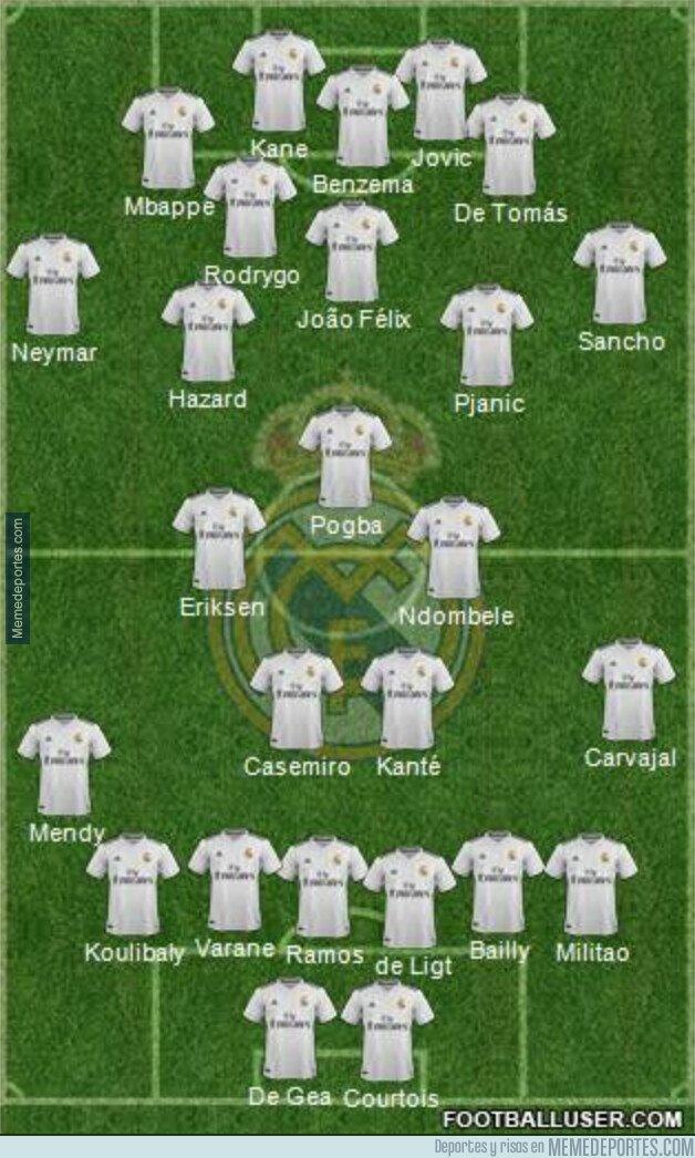 1075738 - La alineación del Real Madrid si juntamos todos los jugadores que suenan para fichar por ellos