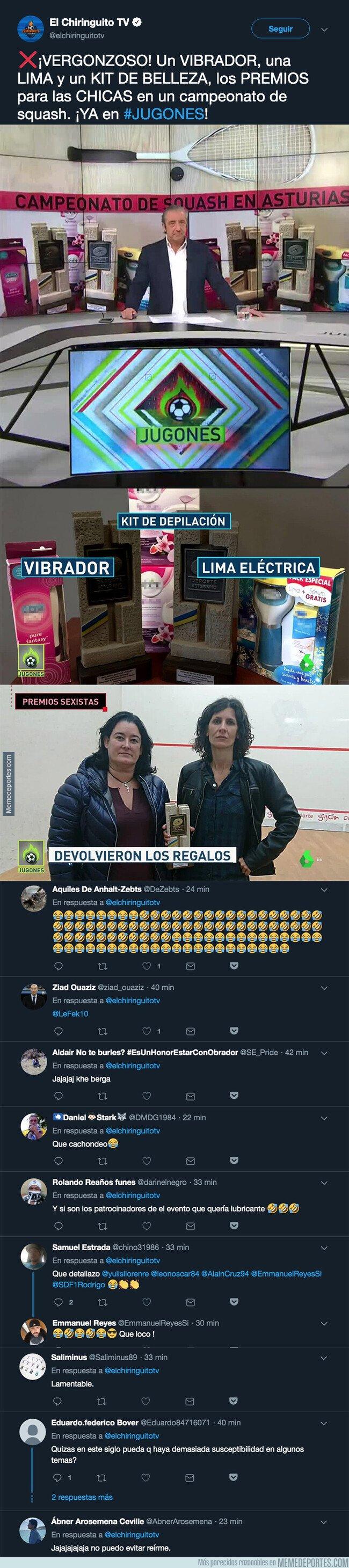 1075750 - El repugnante premio que se han llevado las campeonas de Squash en un torneo de Asturias