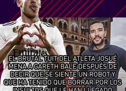 Enlace a El brutal tuit del atleta Josué Mena a Gareth Bale después de decir que se siente un robot y que ha tenido que borrar por los insultos que le han llegado
