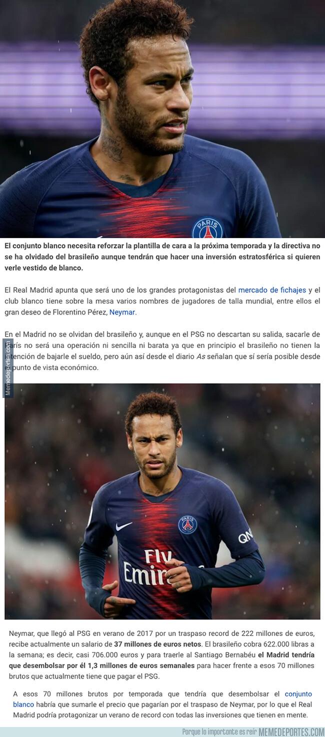 1076244 - La brutal cantidad de dinero que tendría que pagarle el Real Madrid a Neymar cada mes si le quiere en su equipo