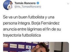 Enlace a El tuit de Roncero que ha condenado a Borja Fernández a ser detenido por presunto delito de amaño de partidos