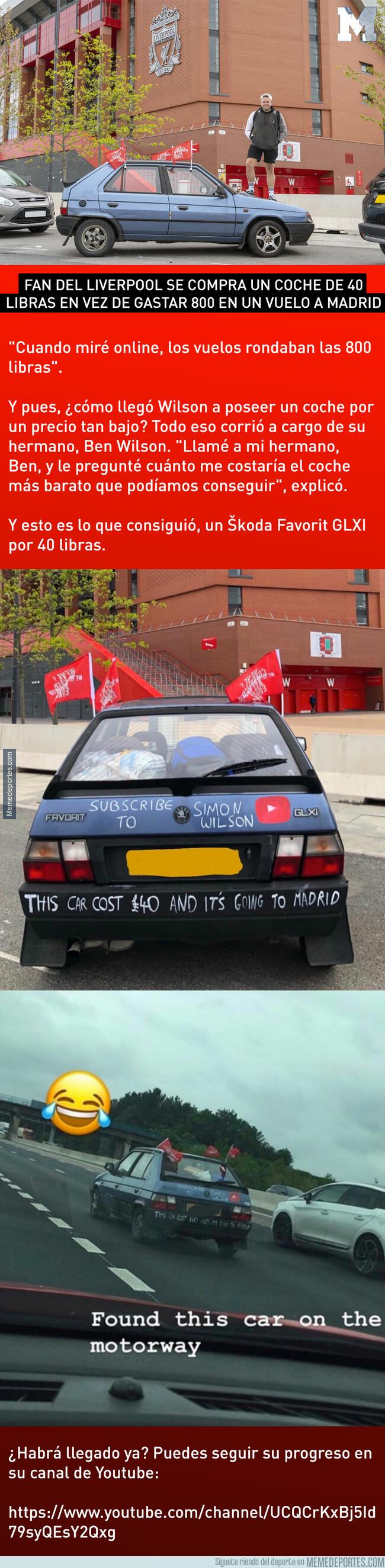 1076634 - Fan del Liverpool se compra un coche de 40 libras en vez de gastar 800 en un vuelo a Madrid