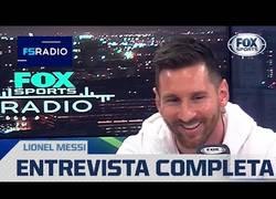 Enlace a Entrevista a Lionel Messi, como si fuera una persona normal