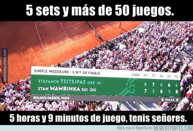 1077019 - Wawrinka y Tsitsipas tuvieron el partido más largo del torneo