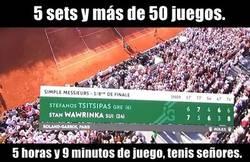 Enlace a Wawrinka y Tsitsipas tuvieron el partido más largo del torneo
