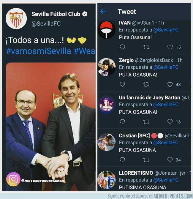 1077130 - Sevilla, lo habéis dejado a huevo... Vía @joeybartonunfanmas