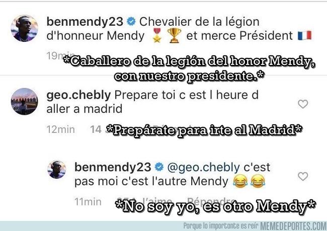 1077225 - Confunden a Benjamin Mendy con el fichaje del Madrid y le toca salir a aclararlo