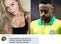 """Enlace a Cuatro desvela la conversación de Whatsapp de Neymar y la modelo que le acusa de violación: """"De las marcas tú también fuiste culpable"""""""