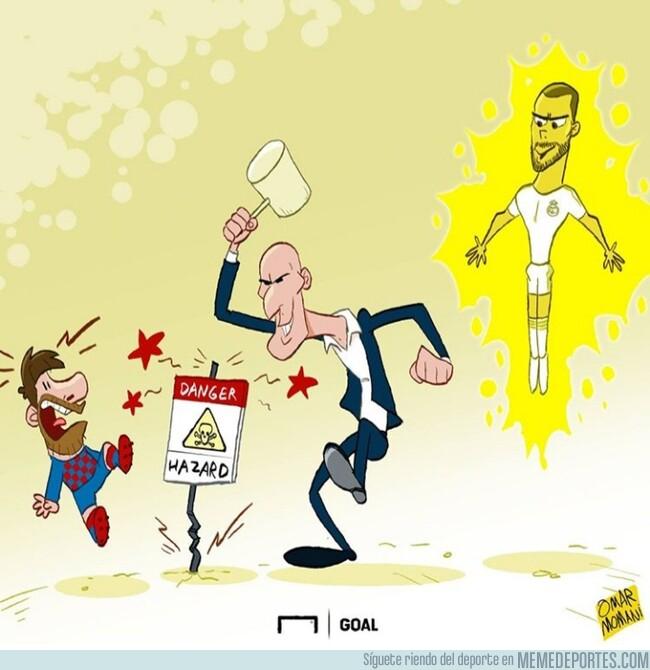 1077549 - Zidane ya tiene un crack con el que hacer frente al Barça, por @goalglobal