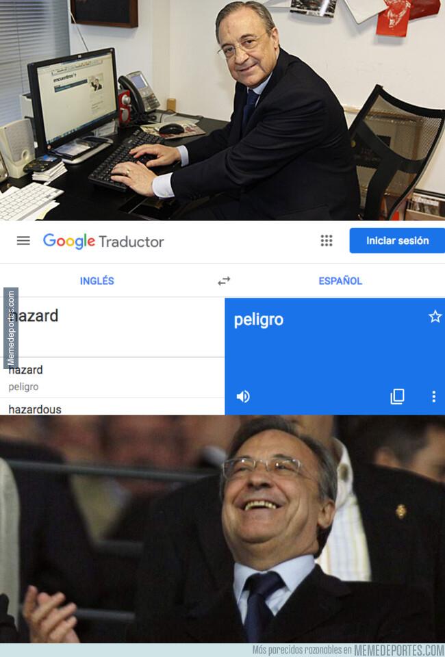 1077858 - La traducción de Hazard al español es justo lo que quería Florentino para su ataque