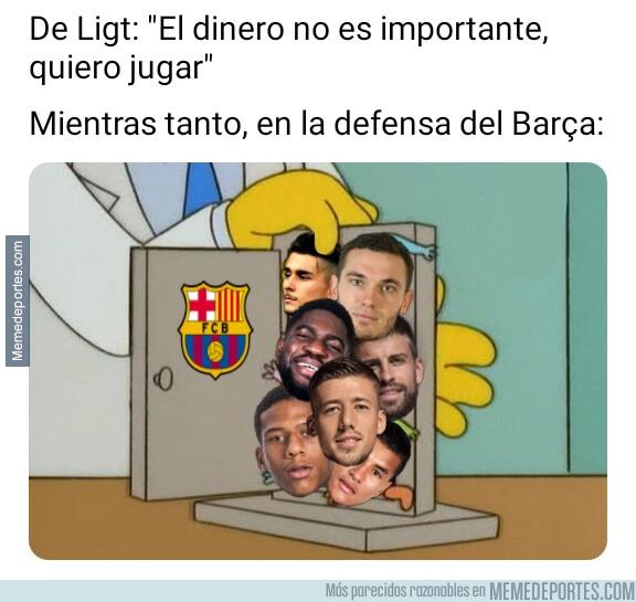 1077863 - La cantidad de centrales que hay en el Barça no gustará a De Ligt