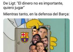 Enlace a La cantidad de centrales que hay en el Barça no gustará a De Ligt