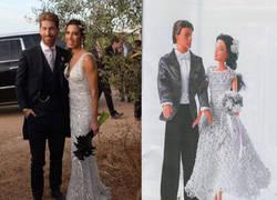 Enlace a Parecidos razonables entre Sergio Ramos y Pilar Rubio recién casados y Barbie y Ken...