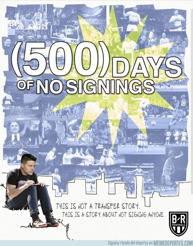 1078272 - El Tottenham cumple 500 días sin incorporar a ningún jugador, por @brfootball