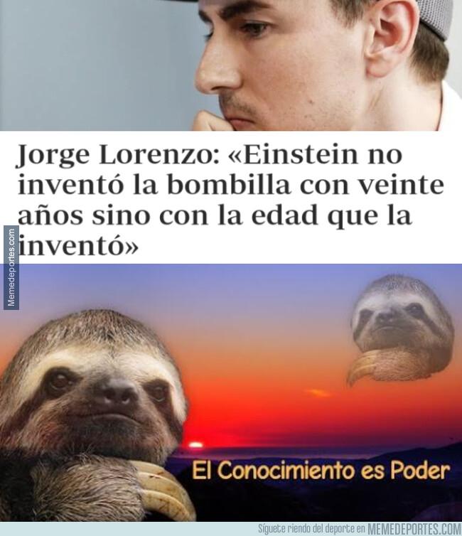 1078482 - Jorge Lorenzo es un pensador adelantado a su tiempo