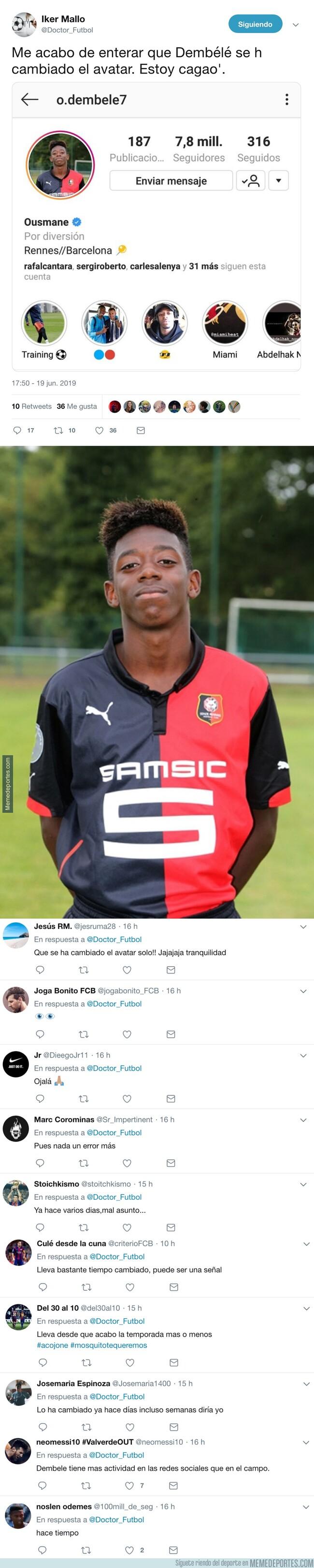 1078739 - Dembélé se cambia de foto de perfil en instagram y los culés están cagados