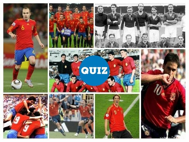 1078756 - TEST: ¿Sabrías decir a qué año/competición corresponde cada una de estas camisetas de la selección española de fútbol?