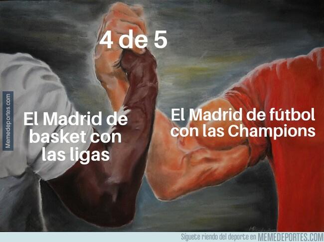 1078921 - El Madrid de basket y fútbol comparten estadística