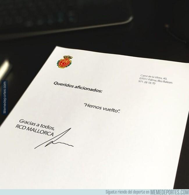 1079092 - La carta del Mallorca dirigida a todos sus aficionados