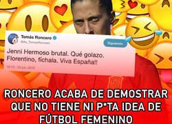 Enlace a Roncero acaba de demostrar que no tiene ni p*ta idea de fútbol femenino