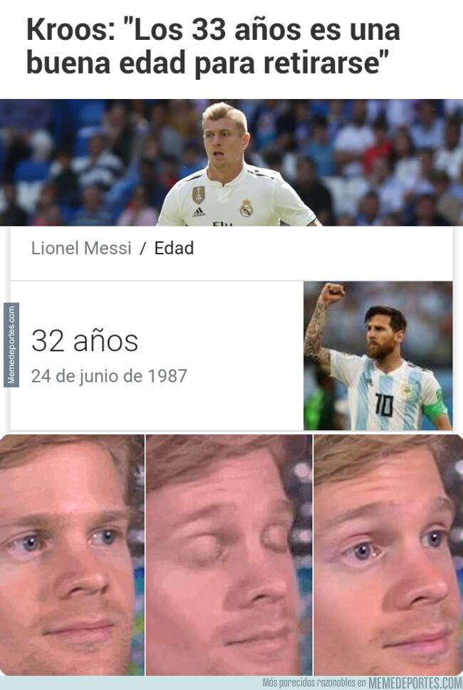 1079353 - Messi está al borde de la jubilación según el criterio de Kroos