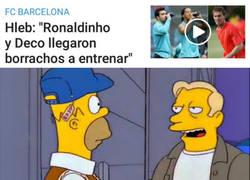 Enlace a Hleb saca los trapos sucios del final de Deco y Ronaldinho en el Barça