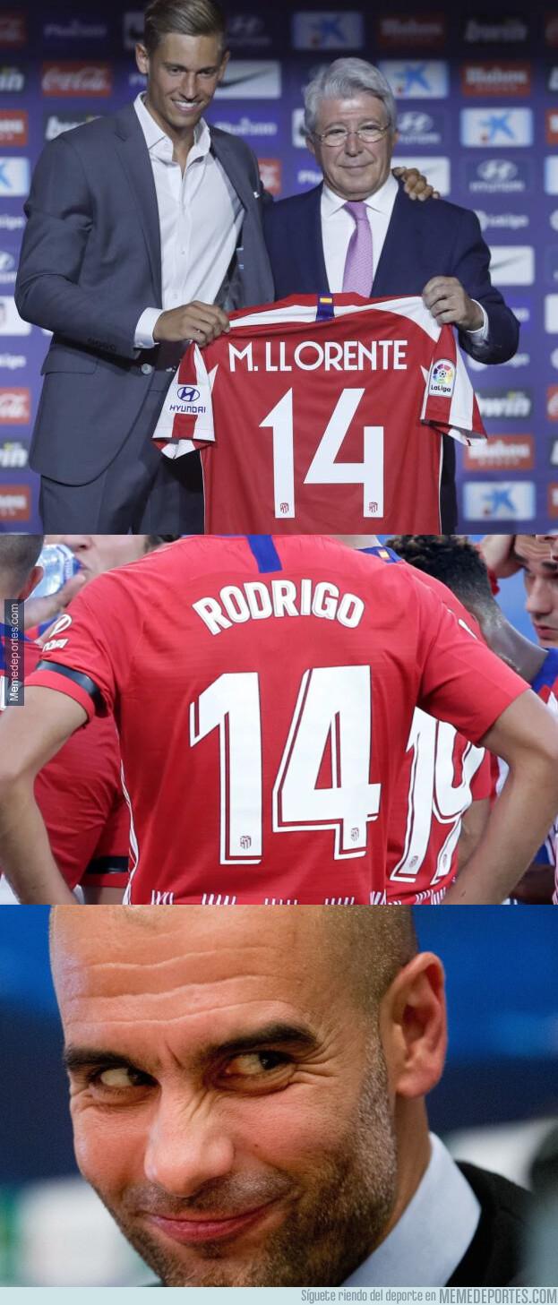1079530 - A Guardiola le gusta el dorsal que lucirá Llorente en el Atlético