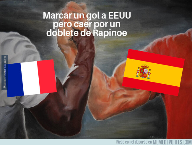 1079546 - España y Francia toparon con Megan Rapinoe