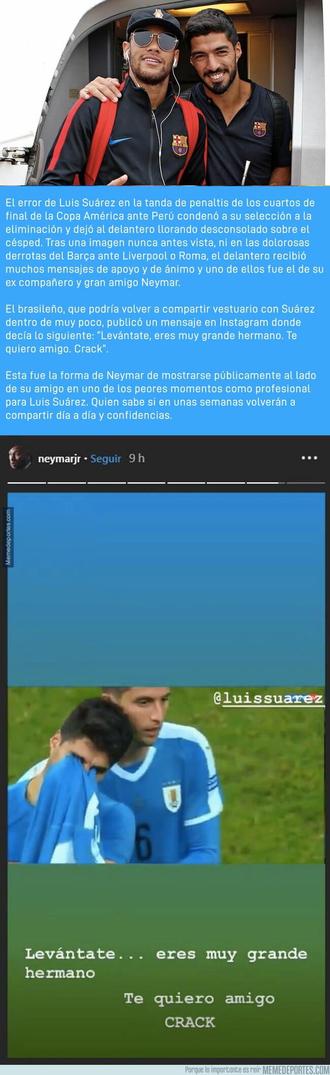 1079675 - El mensaje de apoyo de Neymar a Luis Suárez tras fallar el penalti decisivo
