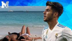 Enlace a Marco Asensio sube una foto de sus vacaciones en las Maldivas junto a su novia y los madridistas lo matan con estas respuestas