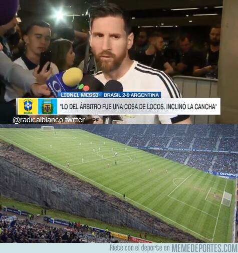 1079962 - Messi dice que el árbitro era un tío con poderes
