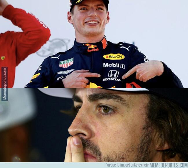 1079997 - Verstappen ganando con motor Honda (aunque siga siendo el peor de la parrilla) y Alonso...