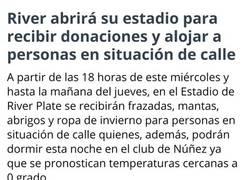 Enlace a River Plate siendo grande fuera y dentro de la cancha