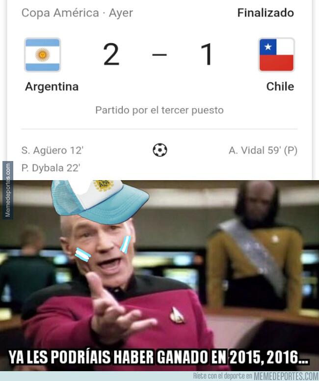 1080385 - Argentina ganó a Chile, pero ya podría haber sido antes