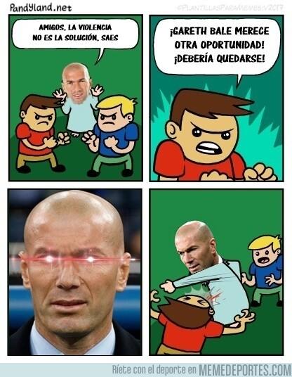 1080470 - Zidane no quiere a Bale ni en pintura