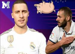 Enlace a Pillan al 'Diario AS' manipulando una foto de Benzema y poniéndole la cabeza de Hazard