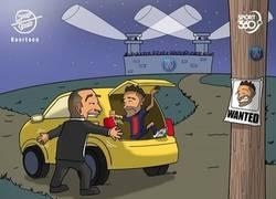 Enlace a Neymar está en busca y captura, por @koortoon