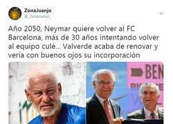 Enlace a Año 2050, Neymar quiere volver al FC Barcelona
